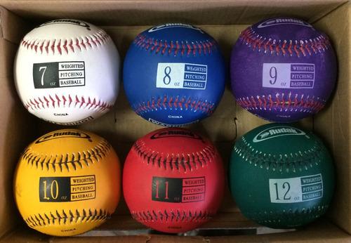 Pelota Baseball Rudak Pesos Varios - Entrenamiento (6 Unid.)