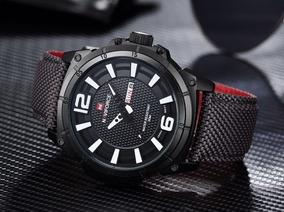 Relógio Masculino Militar Esportivo Pulseira Nylon Naviforce