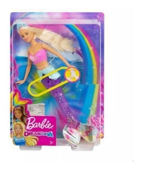Boneca Barbie Dreamtopia - Sereia Luz Arco Íris - Mattel