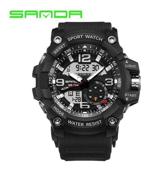 Relógio Masculino Sanda Military Sport Digital E Analógico