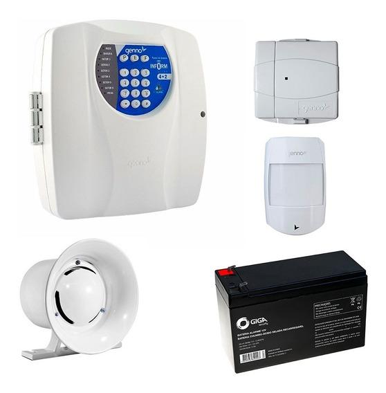 Central Alarme Inform Ultra 4 + 2 Sensores Bateria