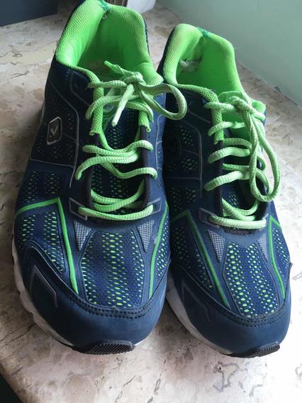Tênis Oxer Tamanho 42, Verde E Azul
