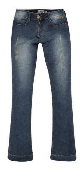 Calça Jeans Feminina Flare Stretch