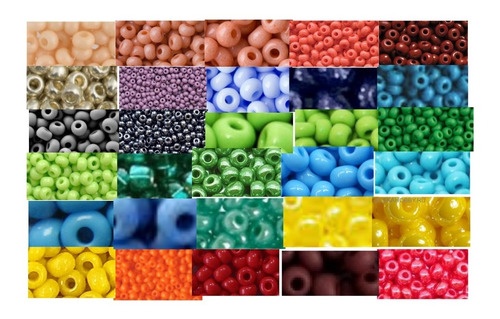 Imagen 1 de 7 de Chaquira 11/0 Checa Calibrada Escoge Colores 14 Bolsas De 5g