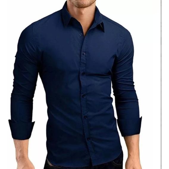 Camisa Social 100% Algodão (slim Fit)