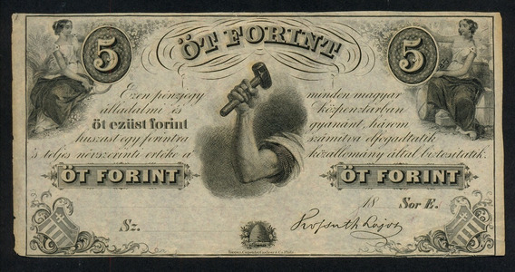 Guardia Imperial - Hungria 5 Forint Budapest 1852