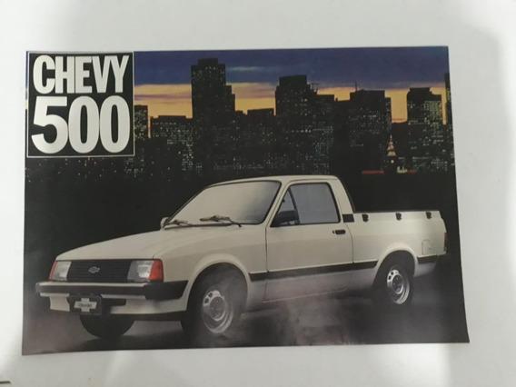 Folder Folheto Propaganda Brochura Chevrolet Chevy 500 1983