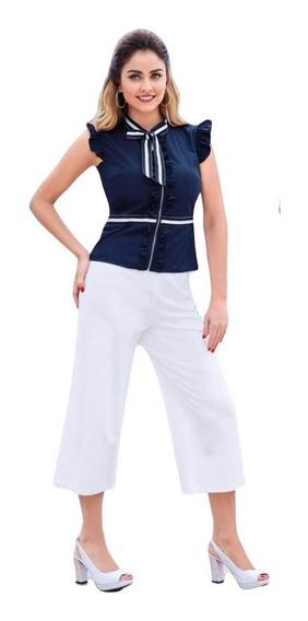 Pantalón Culotte Blanco