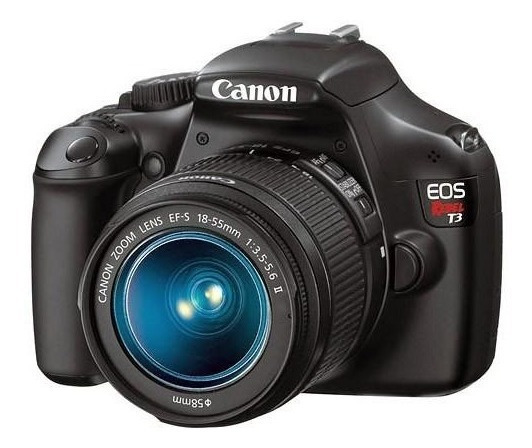 Câmera Canon Eos Rebel T3 Dsrl + Lente 18-55mm
