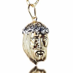Corrente Masculina Cartier Pingente Cristo Banhado Ouro 18k
