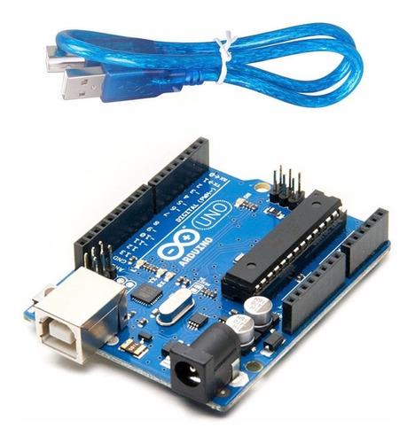 Imagen 1 de 8 de Arduino Uno R3 Original + Cable Usb Chip Desmontable Atmel