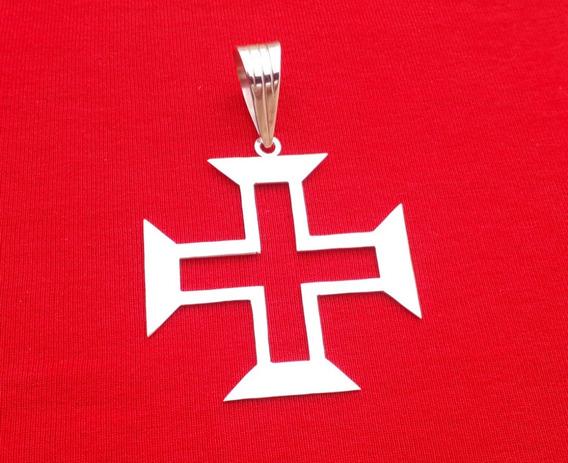 Pingente Em Prata 925 Cruz De Malta Do Vasco.( Vazado).