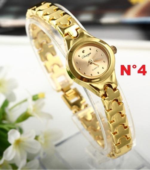 Relógio Fino Feminino De Pulso Chaoyada Dourado