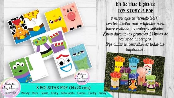 Kit Bolsitas Digitales Toy Story 4 Forky Woody Buzz N481