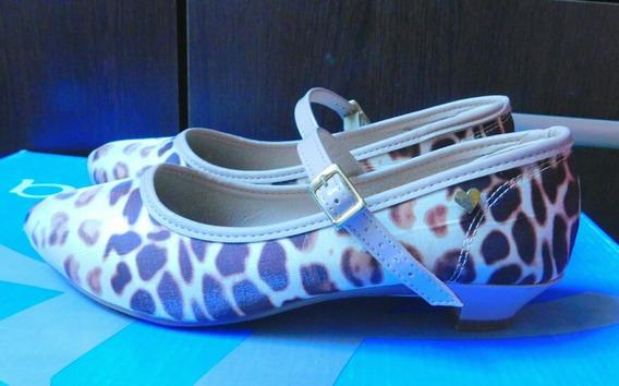 Zapato De Vestir De Nena, Animal Print