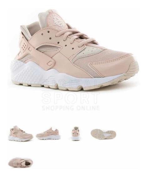 Zapatillas Nike Air Huarache Rosa. (22,5 Cm Plantilla)