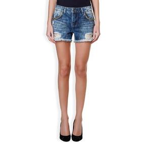 Short Jeans Lelis Blanc- Tamanho 40