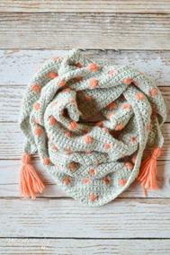 Chale, Poncho Cachecol De Crochet