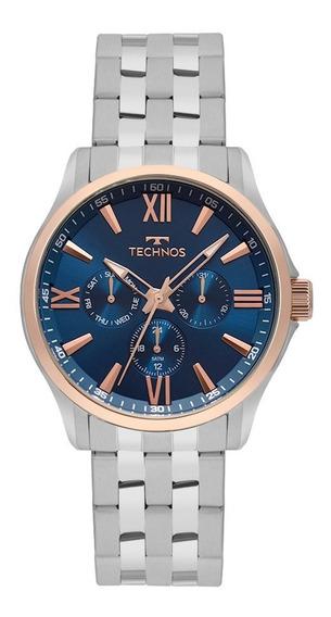 Relógio Technos Masculino Executive 6p29ajx/1a Azul Rose
