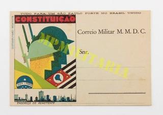 Cartão Postal Da Revolução De 1932 Colorido