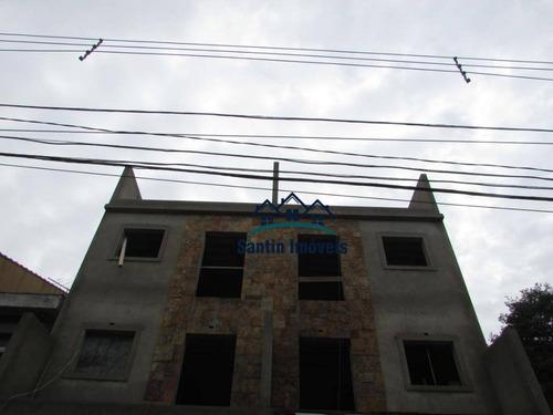 Cobertura Com 2 Dormitórios À Venda, 86 M² Por R$ 370.000,00 - Vila Pires - Santo André/sp - Co0589