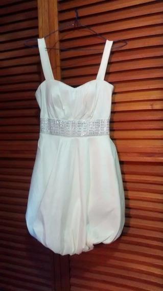 Vestido Para Dama Cóctel Casual Blanco Corto
