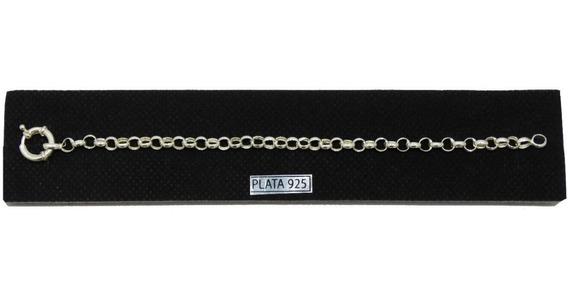 Pulsera Rolo Plata 925 Con Cierre Marinero 5 Mm Sellada Garantia Promoción Fabrica En Todas Las Medidas El Trust Joyero