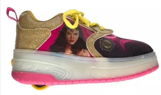 Tenis Patin Wonder Woman Para Súper Niñas