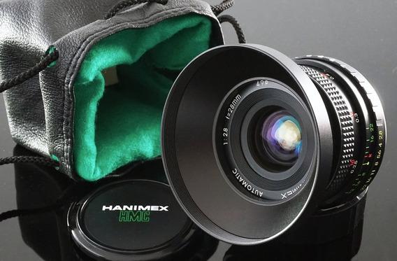 Lente 28mm Hmc Hanimex Pk + Adaptador Novo Sony E-mount\nex