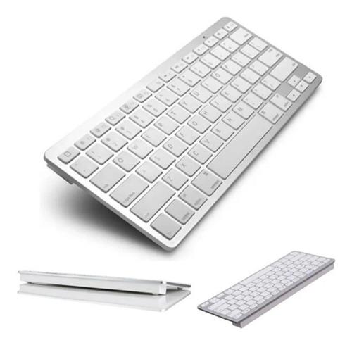 Imagem 1 de 4 de Teclado Sem Fio Bluetooth Para Tablet, iPad, Galaxy - Branco