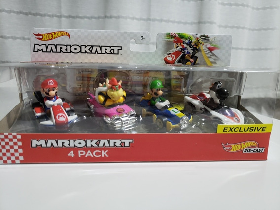 Hotwheels Mariokart Die-cast 4 Pack Exclusivo