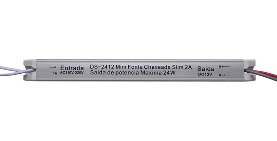 Mini Fonte Drive Chaveada Slim 24w 12vdc 2a (bivolt)