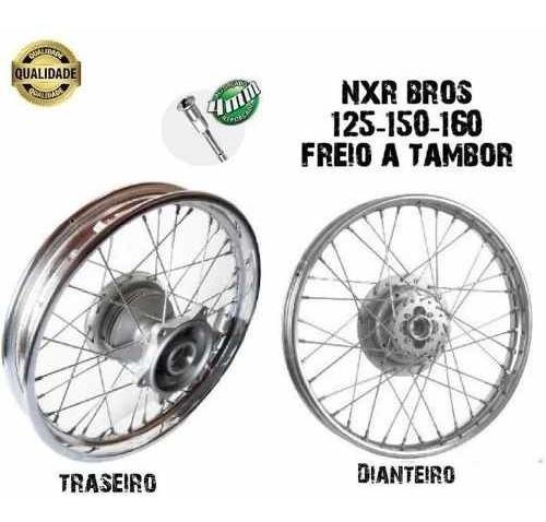 Aro Roda Montada Nxr Bros 125-150-160 Traseira E Dianteira
