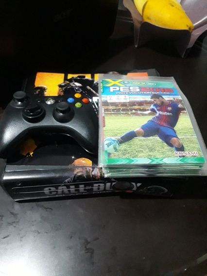 Video Game Xbox 360 Slim 1 Controle 20 Jogos