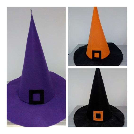 Halloween!!!! Sombreros De Bruja!!! Combo X 5 Unidades