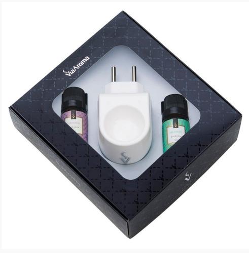 Imagem 1 de 2 de Aromatizador Difusor Ambiente Elétrico + 2 Essencias