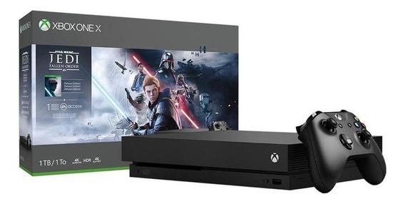 Console Xbox One X 1tb Pacote Star Wars Microsoft Nacional