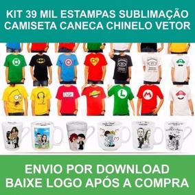 Kit 70 Mil Estampas Sublimação Camiseta Caneca Chinelo Vetor