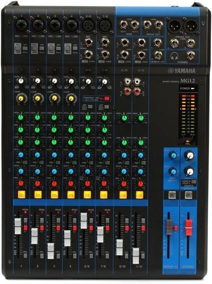 Mesa De Som Analógica Yamaha Mg12