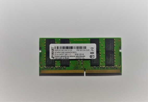 Memoria Smart 8gb Para Notebook Ddr4 Pc4-2400t-se1-11 2rx8
