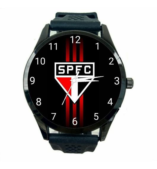 Relógio São Paulo Unissex Futebol Esporte Time Tricolor T122