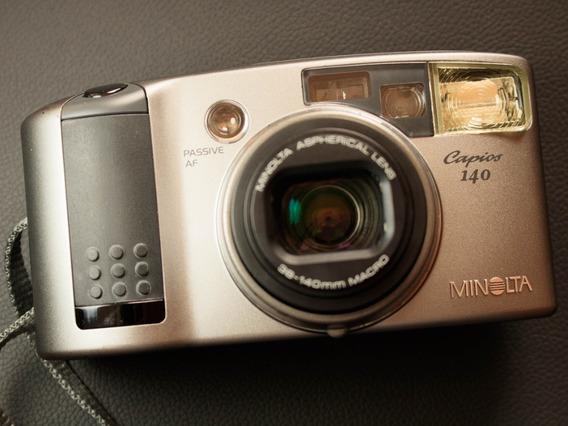 Câmera ( Revisada ) Fotográfica Analógica Minolta Capios 140