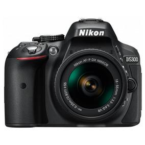 Câmera Nikon D5300 E Lente Af-p Dx 18-55mm F/3.5-5.6g Vr