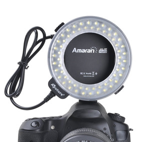 Flash Macro Led Aputure Ahl-c60 P/canon C/tdos Aneis P/lente