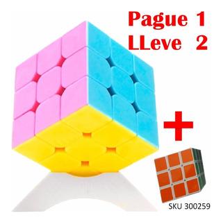 Paga1 Lleva 2 Cubo Rubik Qj 3x3x3 Stickerless Speedcube W03