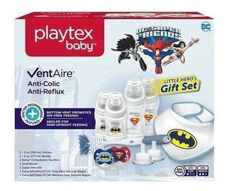 Playtex Baby Ventaire Super Heroes Set Regalo Teteros Bebe