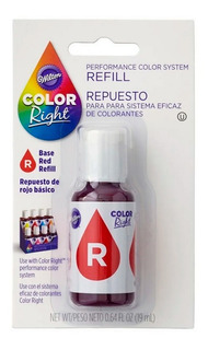 Colorante Rojo Color Right Wilton Original - No Full