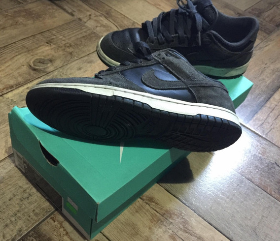 Zapatilas Nike Air Force One Low 1 Negras Talle 39 De Gamuza