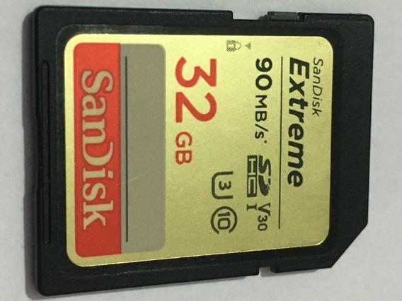 Cartão Sd - Cartao De Memoria Sandisk 32gb Extreme Sdhc