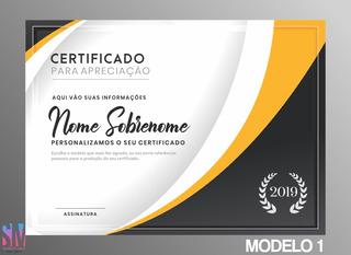 Certificado Personalizado *leia Antes De Efetuar A Compra!